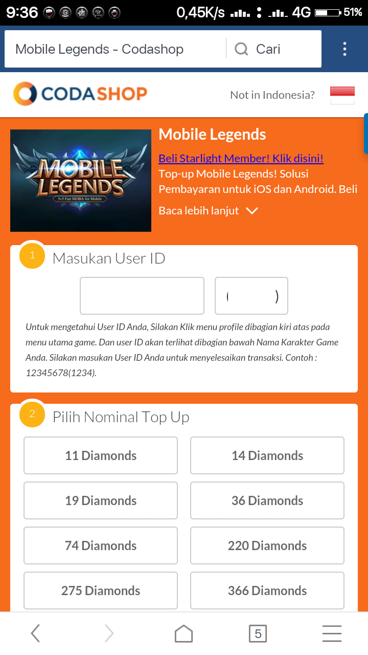 Cara top up menggunakan codashop google play store how to top up coda shop is one of the top end providers of mobile legends diamonds in an easy way this top up service allows you to buy diamonds without using a credit stopboris Images