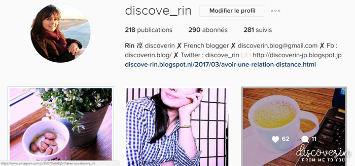 Stats Instagram discoveRin