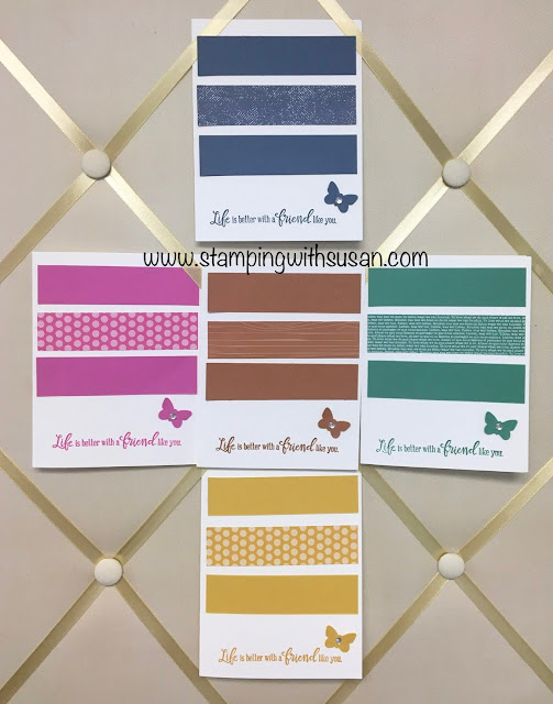 Stampin' Up!, 2020-2022 In Colors, www.stampingwithsusan.com, Peaceful Moments, Butterfly Duet Punch, Cinnamon Cider, Just Jade, Bumble Bee, Magenta Madness, Misty Moonlight,
