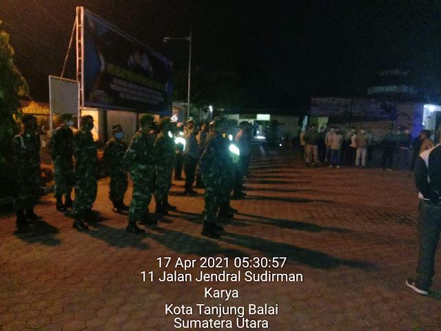 Lakukan Patroli Subuh Menjelang Sahur Dilakukan Personel Jajaran Kodim 0208/Asahan Bersama Dinas Terkait