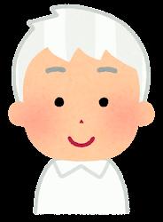 白い髪の男の子のイラスト