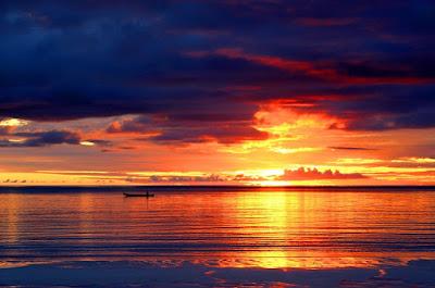 Gambar pemandangan sunset