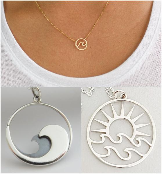 Ocean Wave Necklace Designs