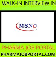 MSN Laboratories - Walk-In Drive for Freshers B.Pharm, B.Sc, M.Sc, B.Tech, ITI, Diploma at 29 Sep