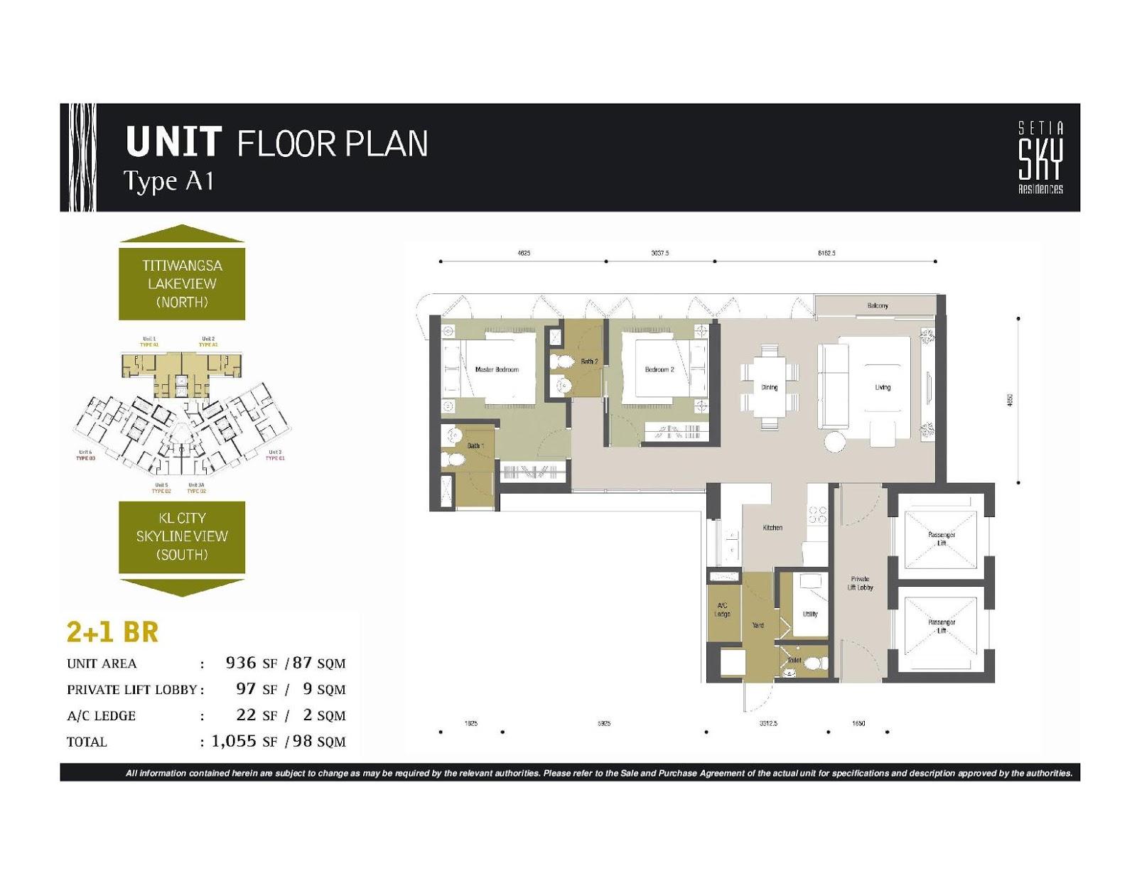 Setia Sky Residences Klcc Block A Alia Floor Plan