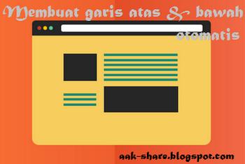 Membuat Link Hover Bergaris Atas dan Bawah Otomatis Pada Blog