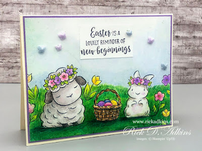 I have a super cute Easter Card for you today using the Spring Time Joy Cling Stamp Set and Prismacolor Pencils Click here to learn more