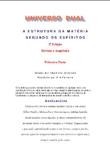 A Estrutura da Matéria Segundo os Espíritos pdf - Primeira Parte (Psicografia P. A. Ferreira - Espíritos Diversos)