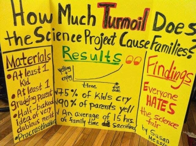 Funny Science Fair Project - How much turmoil does the science project cause families?
