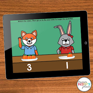 Digital Comparing Numbers Resource with Video - FREE