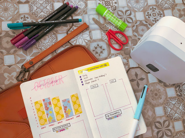 Patty Villegas - The Lifestyle Wanderer - Brother - P- Touch Cube - Label Maker - Review - Journal - flatlay