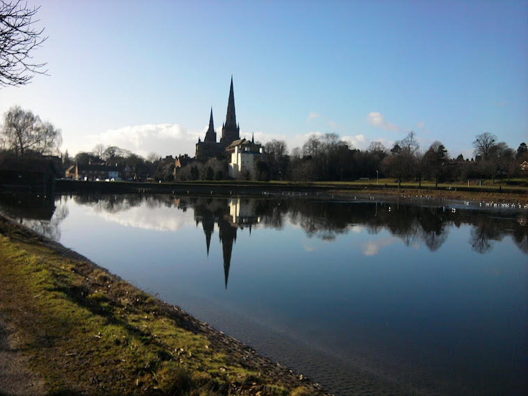 Lichfield Cathedral from Stowe Pool