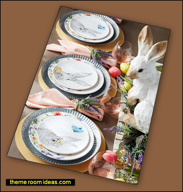 Woodland Rabbits Woodland Rabbit table decorations easter bunny table decor bunny party