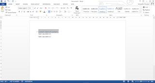 Membuat Daftar Isi Dengan TOC