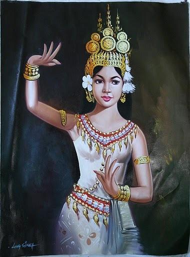 Khmer Apsara in Painting ~ Popular Beautiful