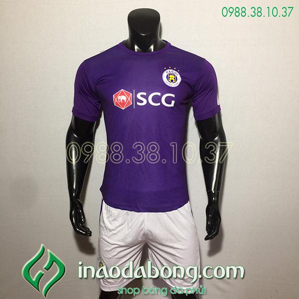 Áo bóng đá câu lạc bộ hà Nội màu tím 2020
