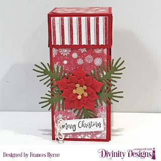 Stamp/Die Duos: Deer Ornament  Custom Dies: Treat Tower, Peaceful Poinsettia, Pinecones & Pine Branches, Treat Tags, Paper Collection: Snowflake Season