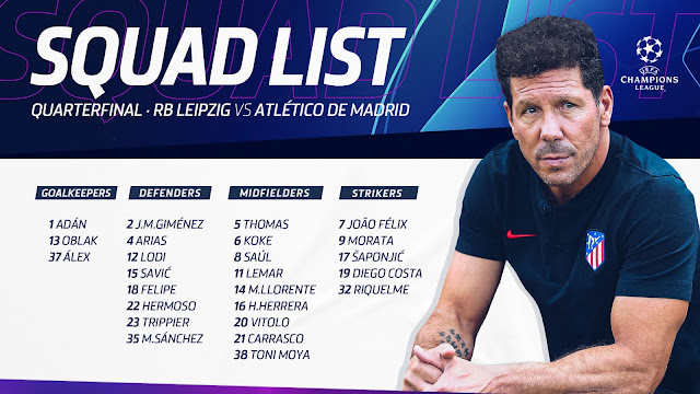 قائمة أتلتيكو مدريد