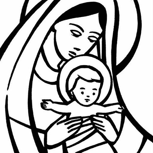 Virgen María Ruega Por Nosotros Imagenes Virgen Maria Para Colorear