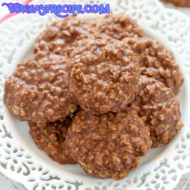 Healthy, Classic and Easy no bake cookies recipe at home