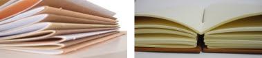 folhas impressas e dobradas para encadernação.