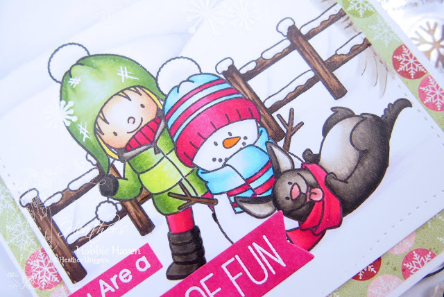 Heathers Hobbie Haven│Copic Markers│My Favorite Things│Snow Buddies