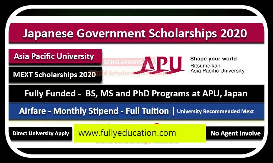 MEXT Undergraduate Scholarship For Pakistani Students ...