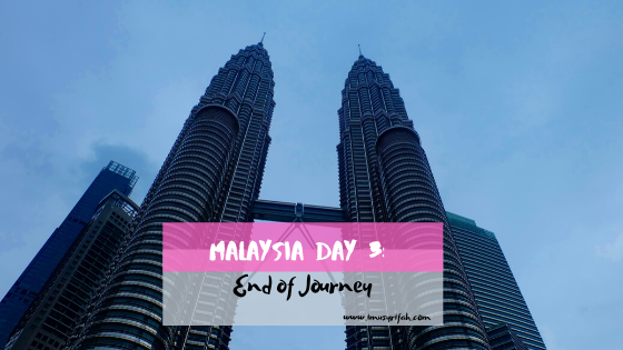 Malaysia Day 3: End of Journey!