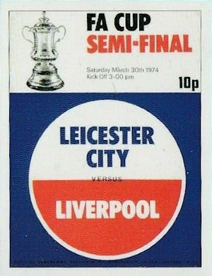 Liverpool  FA Cup 1974 Programme Trading Card Set