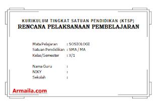 Download RPP KTSP Sosiologi Kelas X SMA