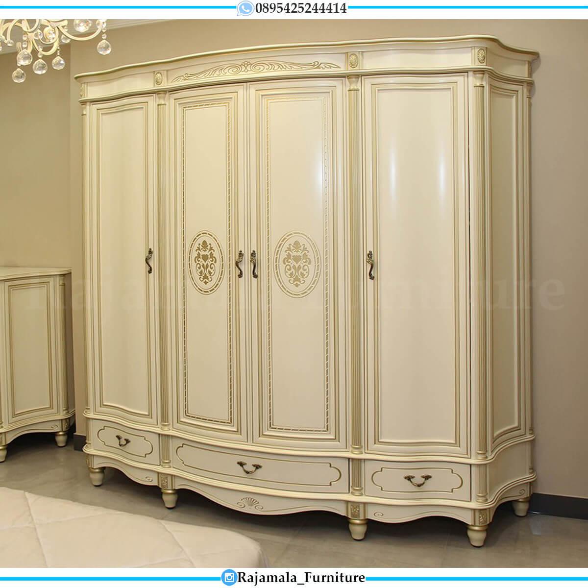 Lemari Pakaian Mewah Putih Duco Luxurious Palace Design RM-0558
