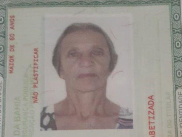 Família pede ajuda para encontrar idosa desaparecida em Brumado