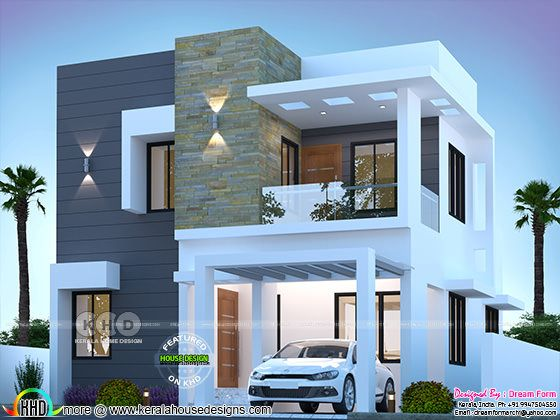 3 BHK cute modern house 1550 sq-ft