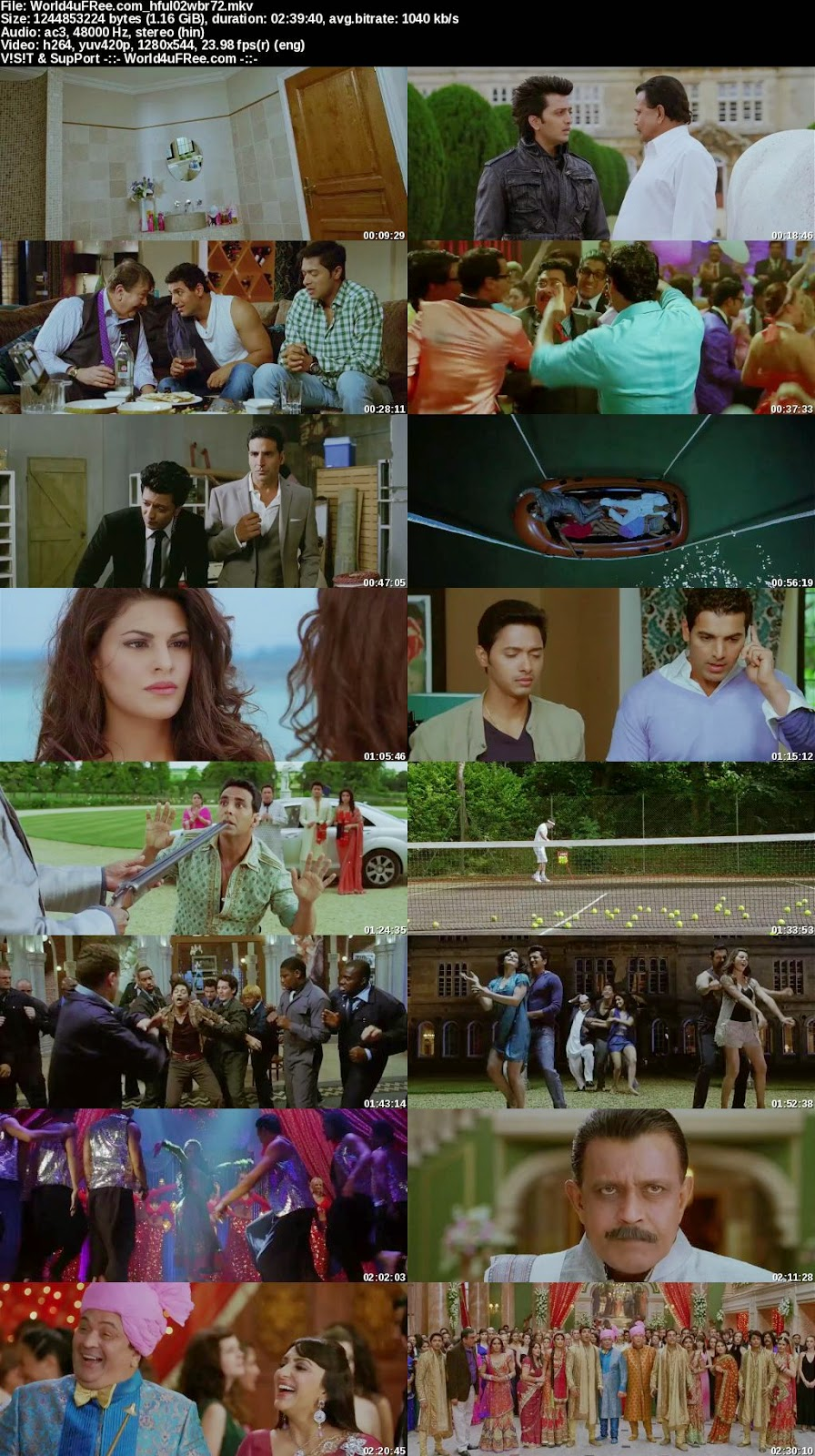 housefull 2 2012 hindi 720p brrip 1.1gb esub