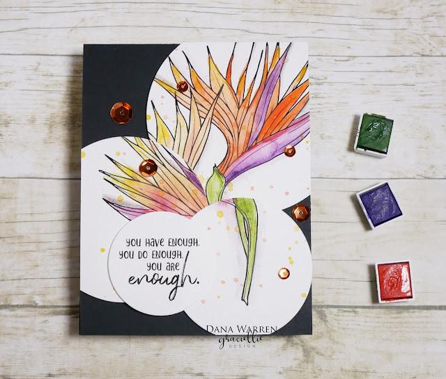 Dana Warren - Kraft Paper Stamps - Graciellie Designs - Wateroloring