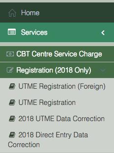 JAMB课程/机构表格变更2018