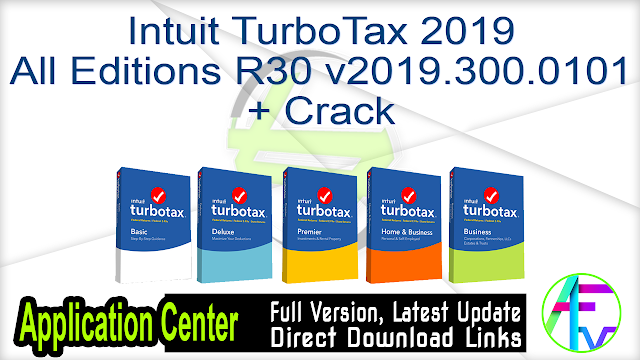 Intuit TurboTax 2019 All Editions R30 v2019.300.0101 + Crack