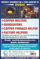 Steel Company Vacancies for Dubai