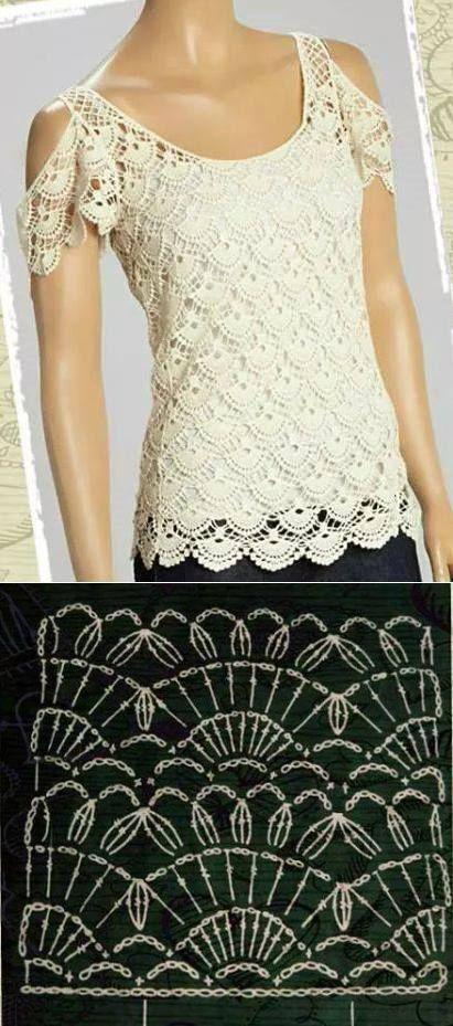 10 Patrones De Blusas A Crochet