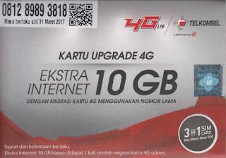Kuota Internet Gratis hingga 10GB