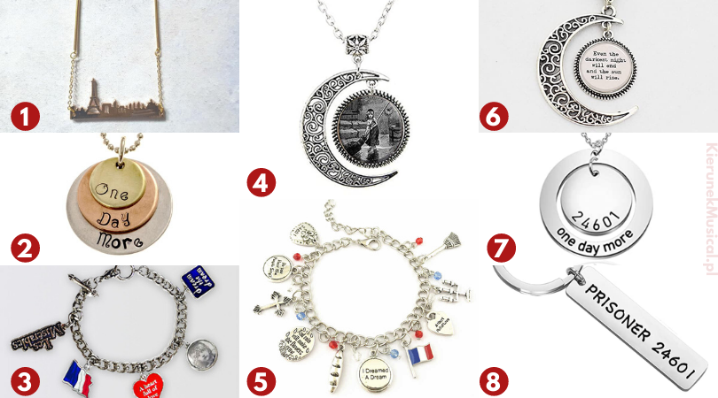 biżuteria dla fanów les miserables nędzników