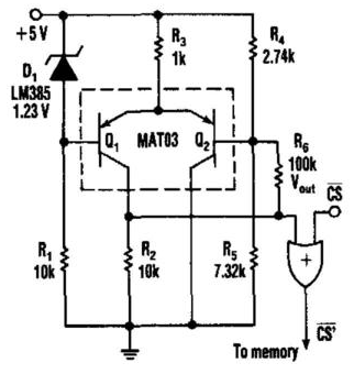Schematic Diagram: Power Supply Monitor Memory Protector