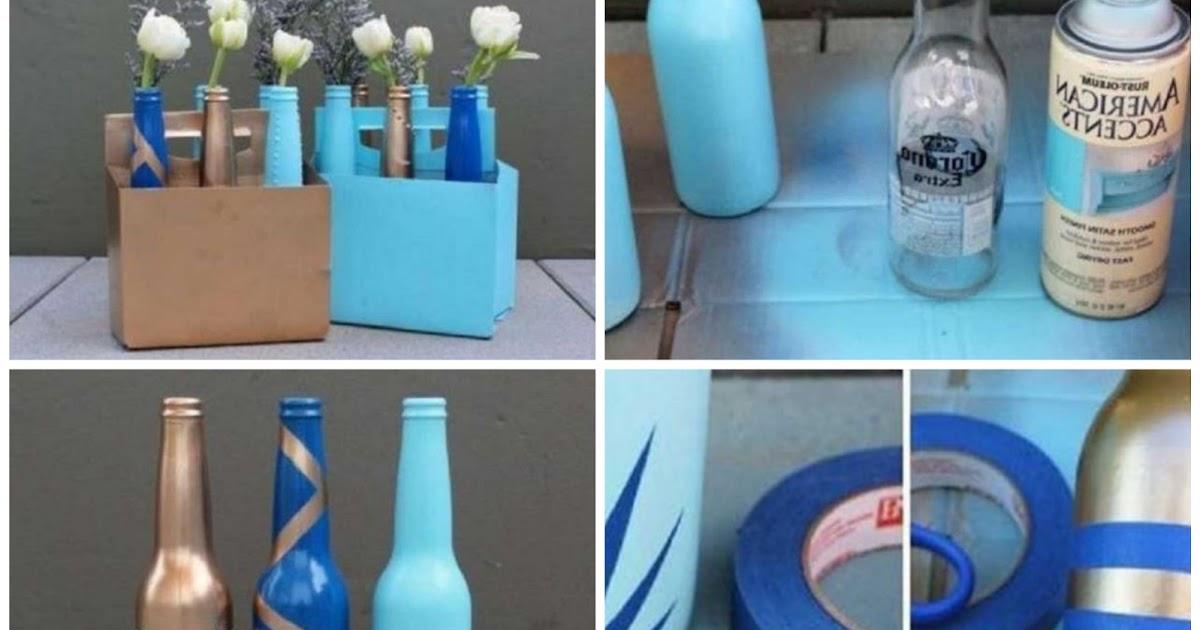 Transforma botellas de vidrio en floreros modernos - Floreros modernos ...