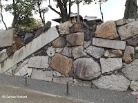 The famous 'High Stone Wall' - Shosei-en Garden, Kyoto, Japan