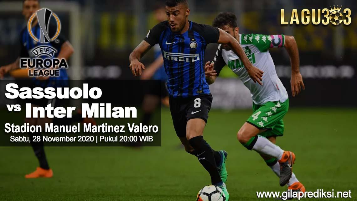 Prediksi Sassuolo vs Inter Milan 28 November 2020 pukul 20:00 WIB