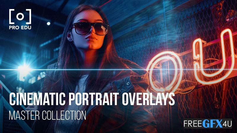 Cinematic Portrait Overlays 200 cover images of various