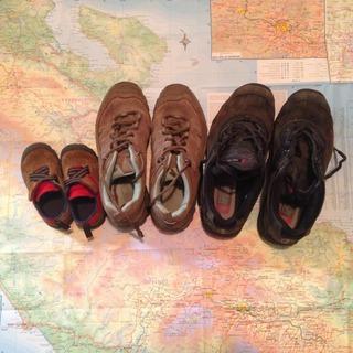 Carte Costa Rica et chaussures de la famille