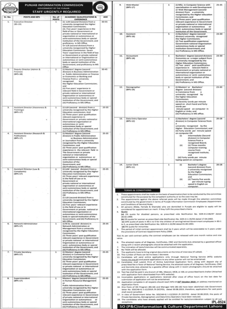 Latest Jobs in NTS