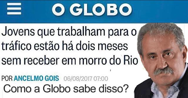 Globo reclama do Exército nas ruas e de atraso dos salários de jovens que trabalham tráco do Morro da Babilônia