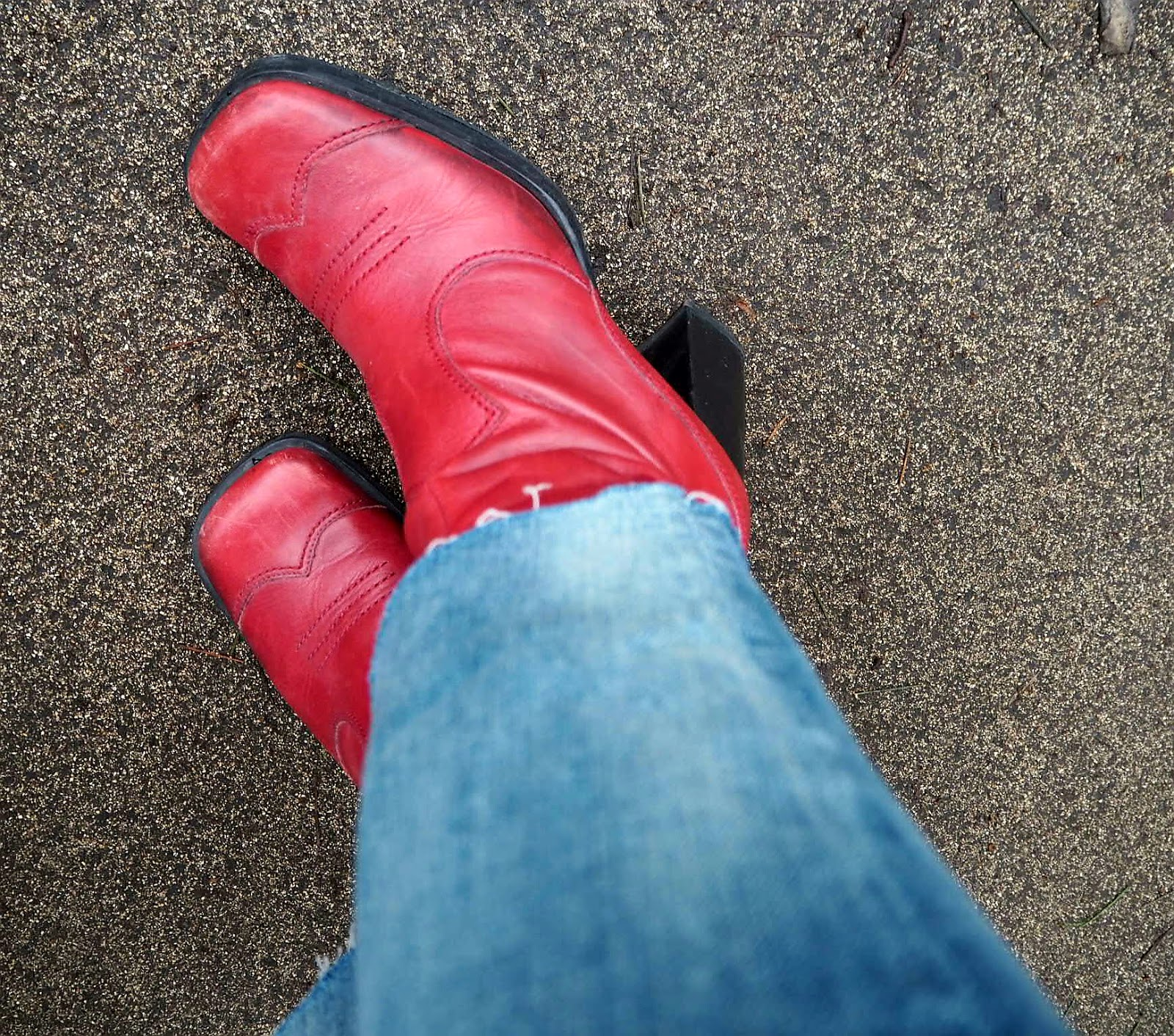 Red Womens Ankle Boots